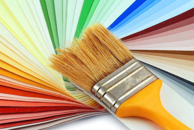 Pinte o bruh e as cores fotos de stock royalty free