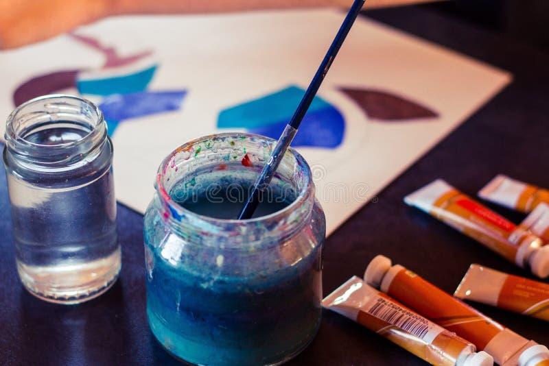 Pinte o frasco foto de stock