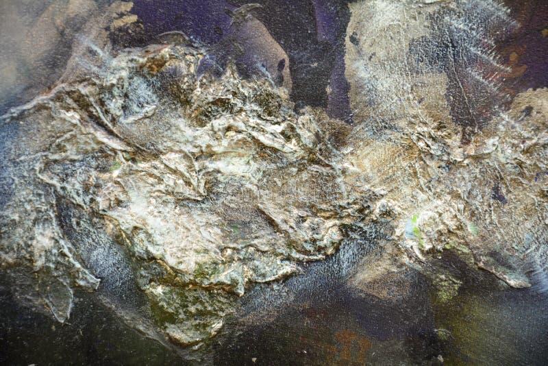 Pinte o fundo azul da pintura fluida dos cursos da escova Fundo do sumário da pintura da aquarela fotos de stock royalty free