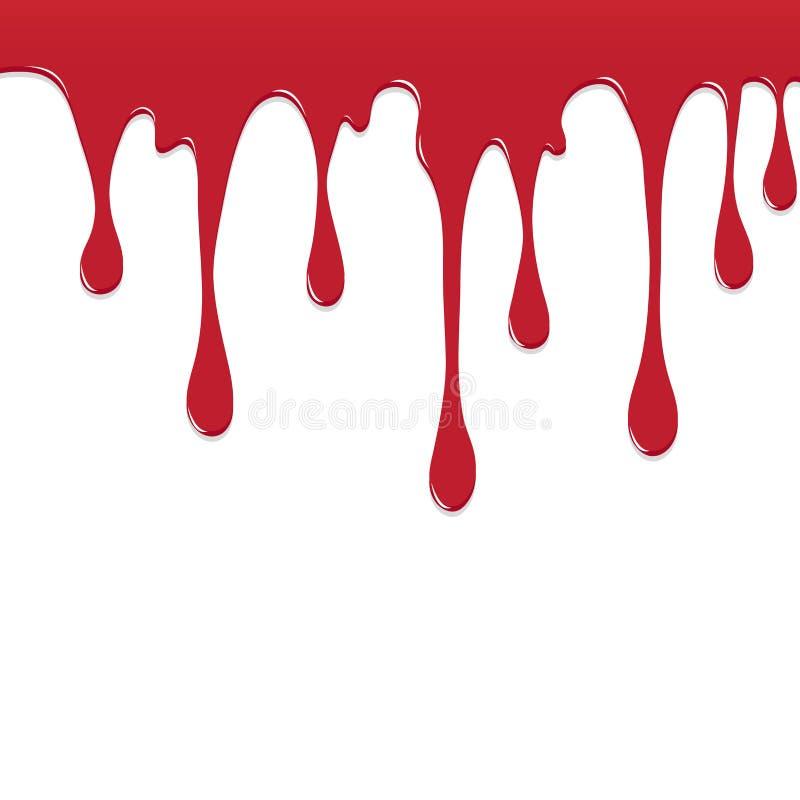 Pinte o gotejamento colorido vermelho chapinham, respingos da cor ou projeto deixando cair do vetor do fundo ilustração do vetor