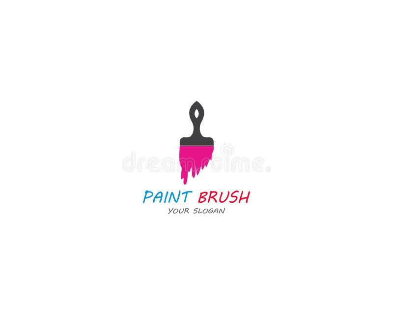 Pinte o projeto da ilustra??o do ?cone do vetor de Logo Template ilustração stock