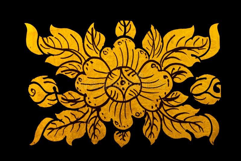 Pinte o projeto dourado da cor da arte tailandês ilustração royalty free