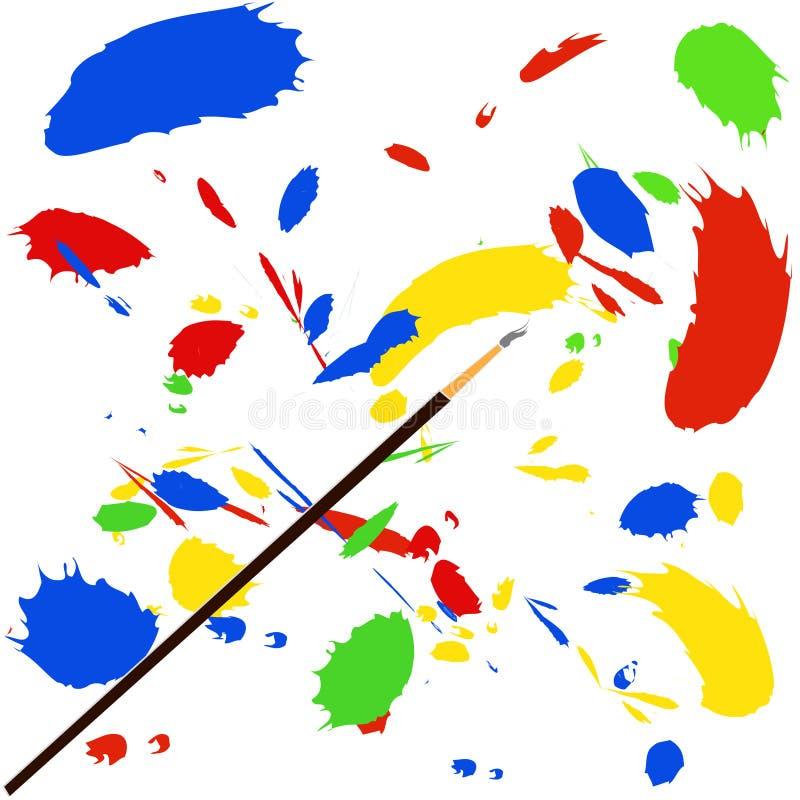 Pinte o respingo ilustração stock