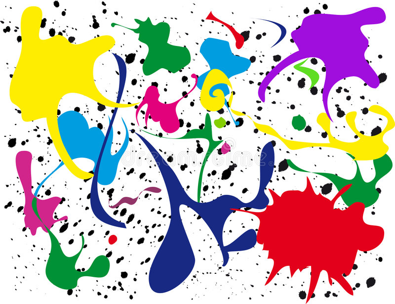 Pinte o Splatter ilustração do vetor