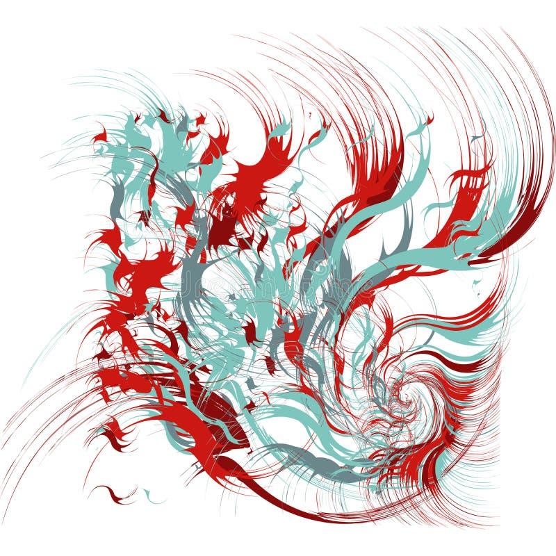 Pinte salpica el fondo abstracto ilustración del vector