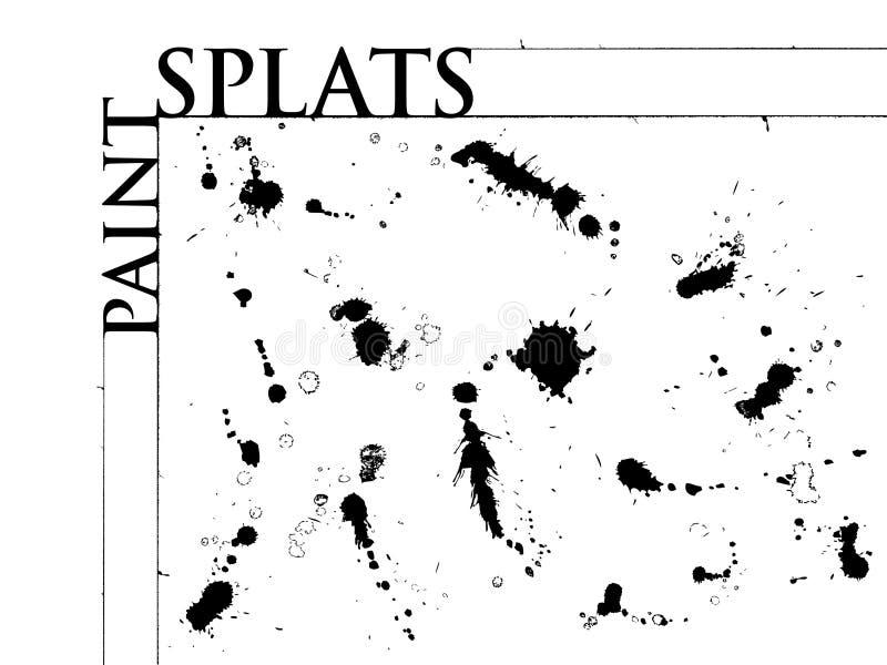 Pinte Splats stock de ilustración