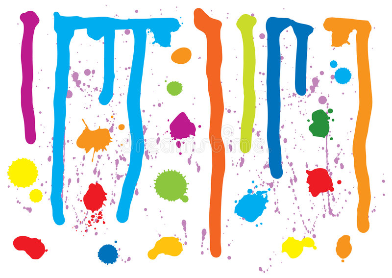 Pinte Splatters ilustração stock