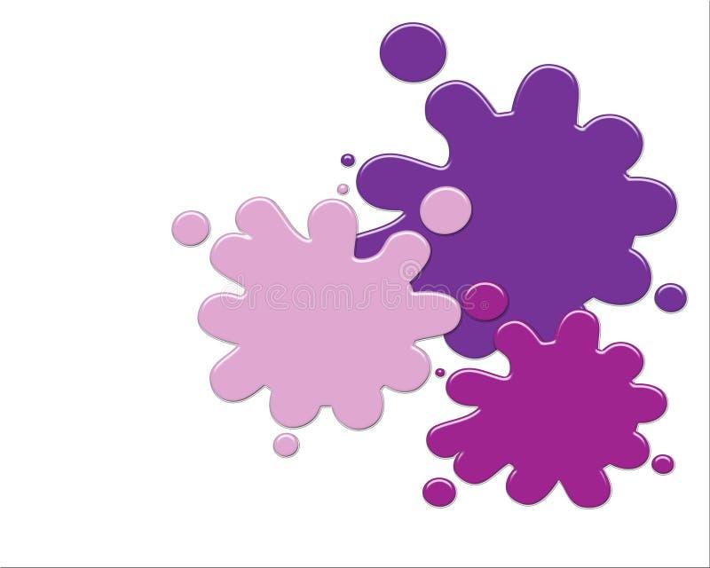 Pinte Splatters ilustração do vetor