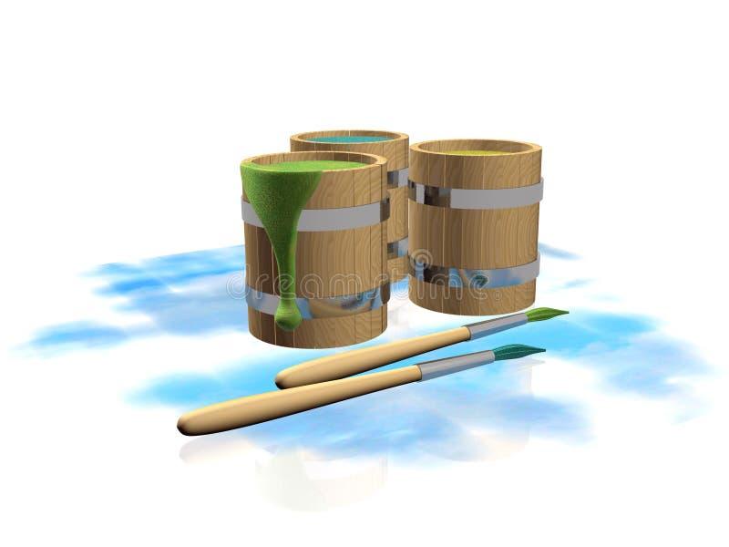 Download Pinte tambores ilustração stock. Ilustração de fundo - 26521049