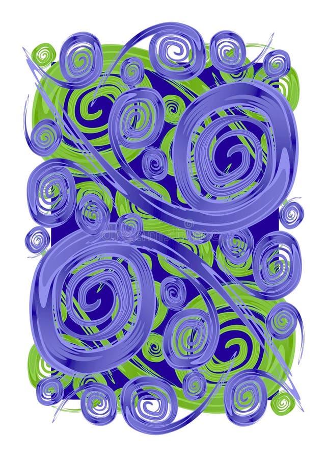 Pinte texturas das espirais dos redemoinhos ilustração royalty free