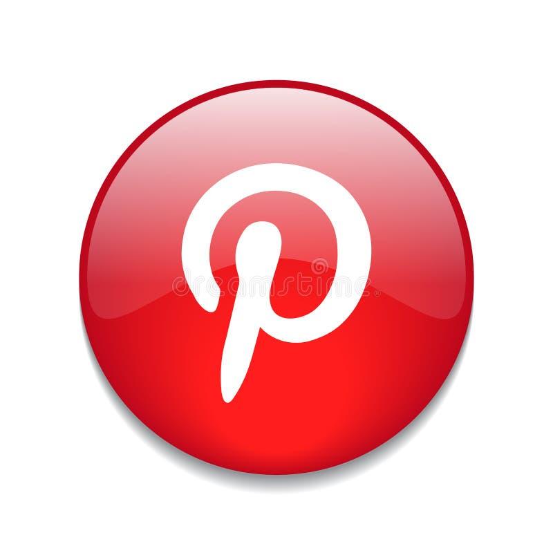Pinterest-Knopf lizenzfreie abbildung