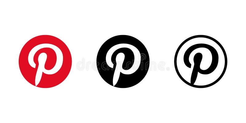 Isolated Pinterest Logo. Vector Illustration. Pinterest Icon ...