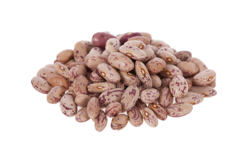 Pinto beans isolated on white royalty free stock images