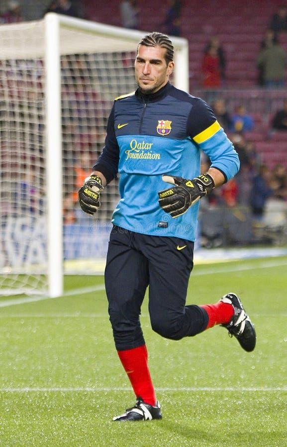 Pinto del FC Barcelona imagen de archivo