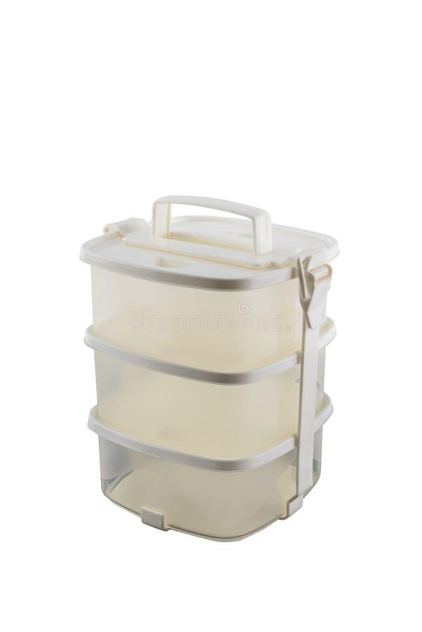 Pinto vuoto, contenitori per alimento isolato su fondo bianco immagini stock