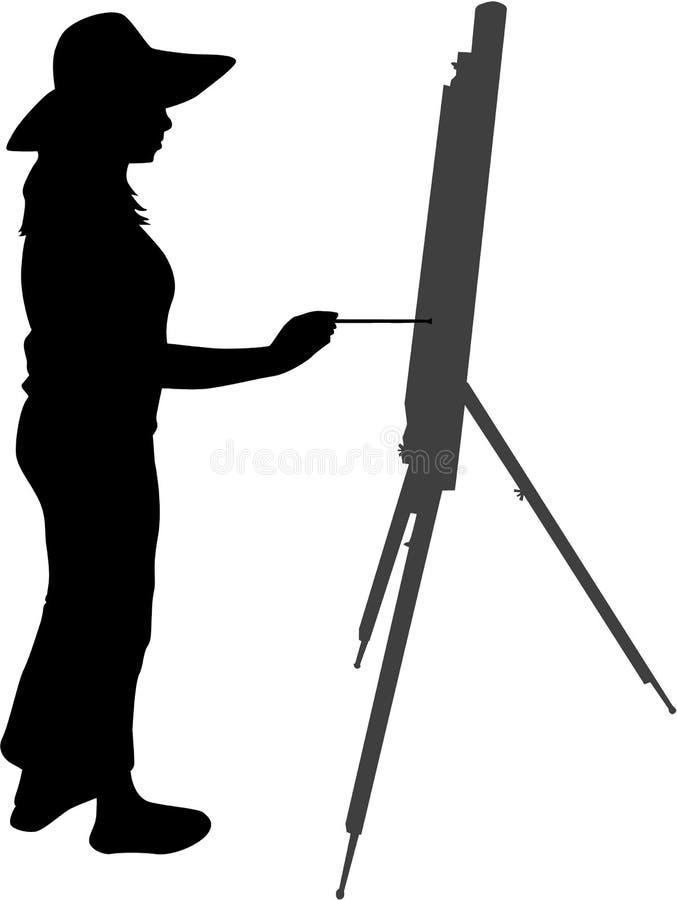 Pintor ilustração stock
