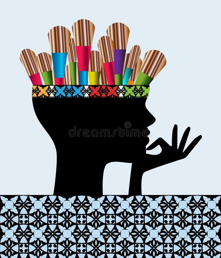 Pintor creativo stock de ilustración