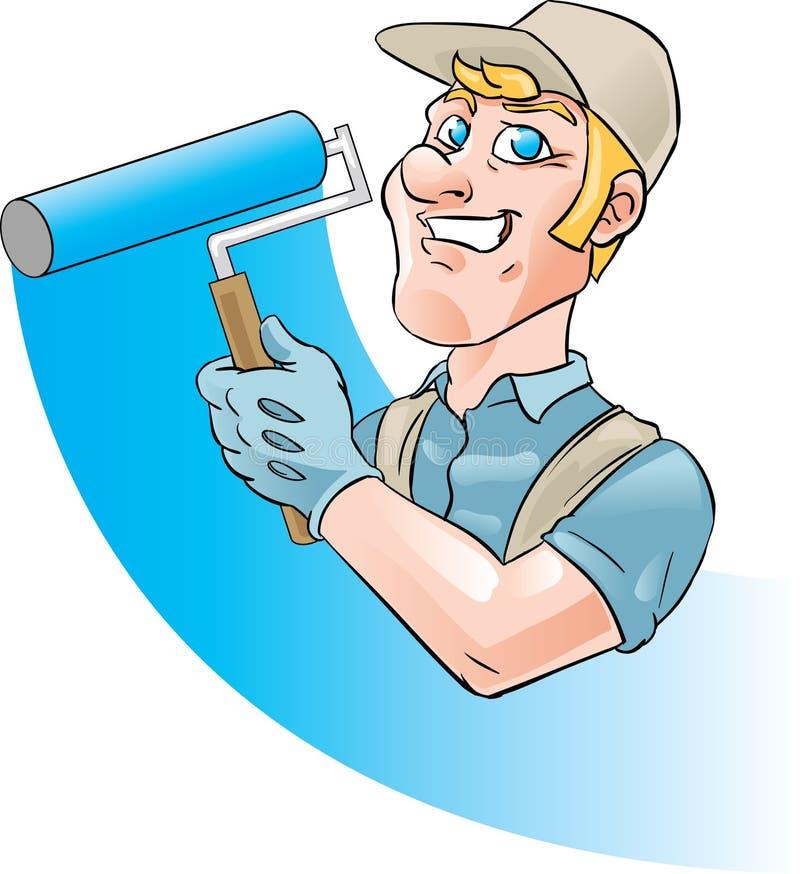 Pintor de casa ilustração stock