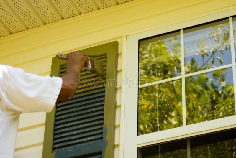 Pintor de casa imagenes de archivo