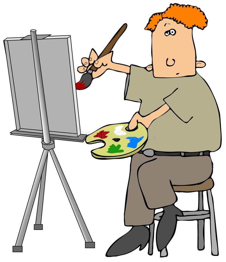 Pintor de petróleo ilustración del vector