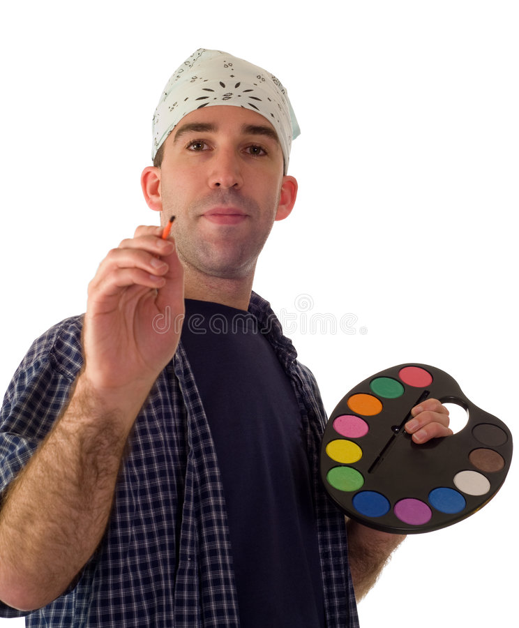 Pintor de sexo masculino foto de archivo