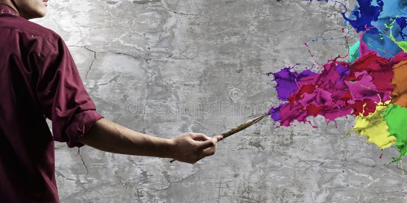 Download Pintor del hombre foto de archivo. Imagen de cepillo - 41901654