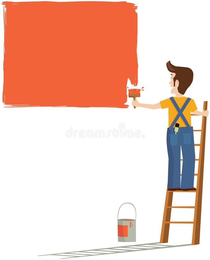 Pintor e decorador ilustração stock