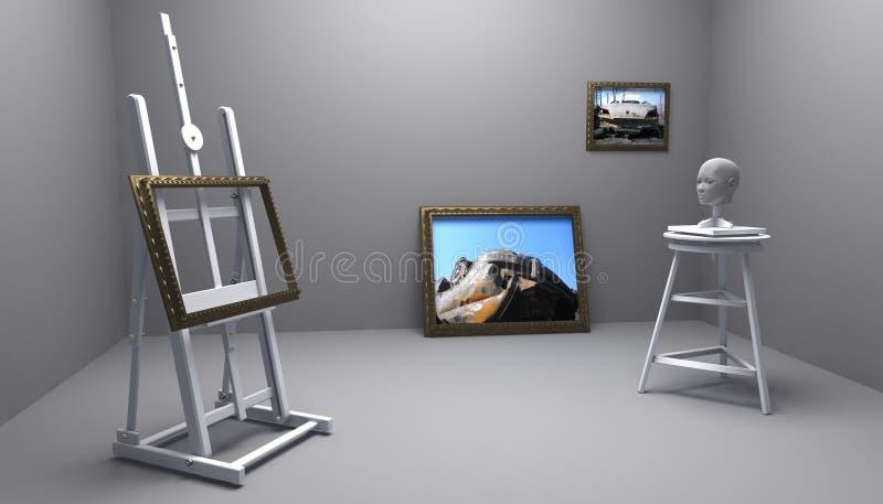 Pintor e escultor ilustração stock