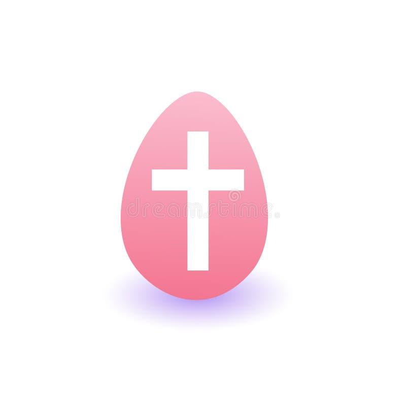 Pintor Easter Egg Icon en el fondo blanco ilustración del vector