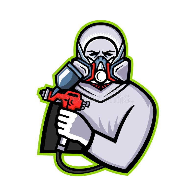 Pintor industrial Mascot del espray libre illustration