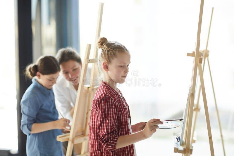 Pintor pequeno imagem de stock