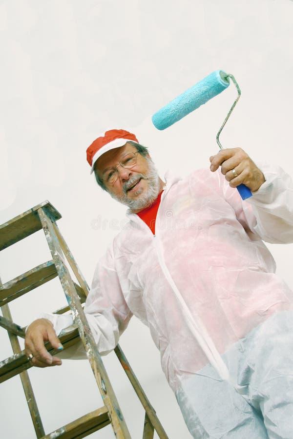 Pintor sênior imagem de stock