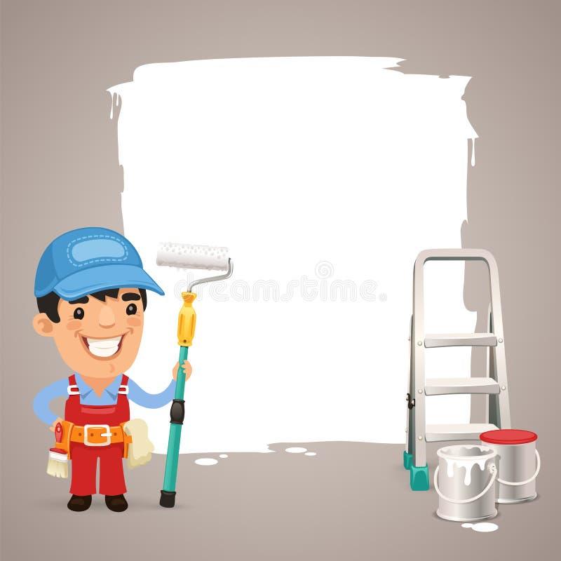 Pintor With Text Box ilustração do vetor