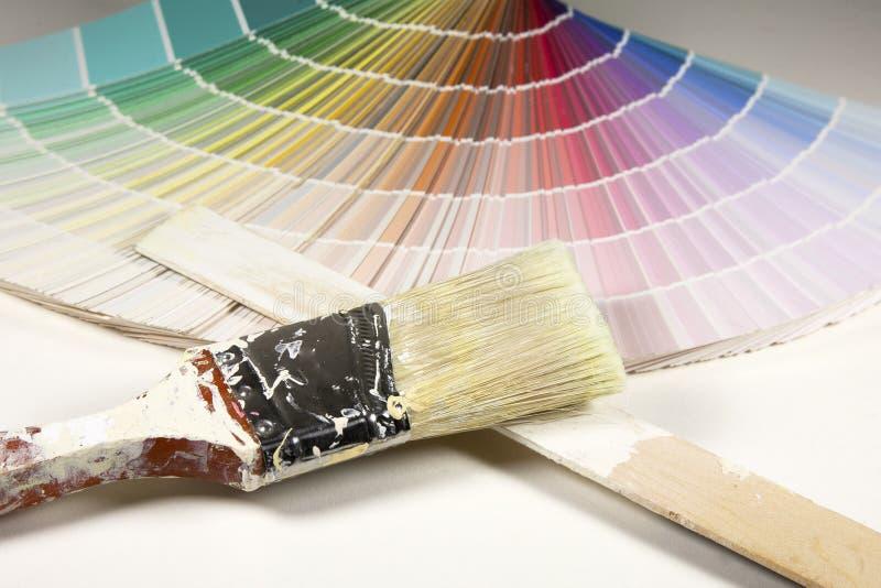 Pintores Palet fotografía de archivo