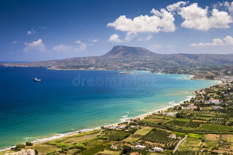 Pintoresca bahía en la isla de Creta cerca de Chania, Grecia imagen de archivo
