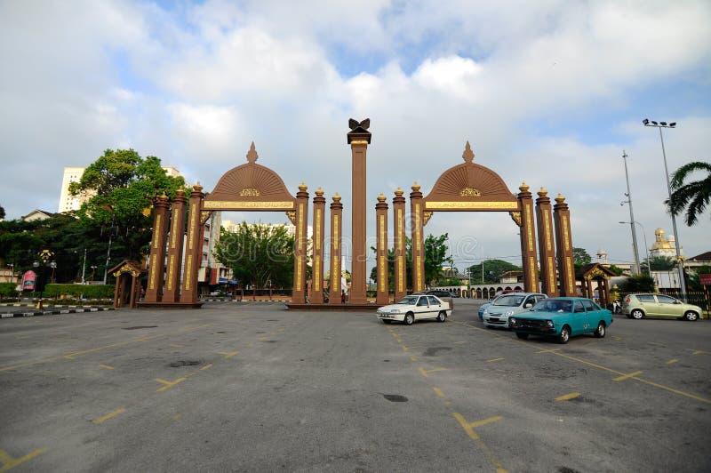 Pintu Gerbang Kota苏丹伊斯梅尔Petra在哥打巴鲁,吉兰丹,马来西亚 库存图片