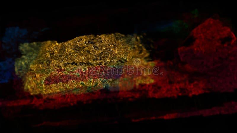 Pintura áspera da ilustração da parede da oxidação material de superfície metálica abstrata do fundo foto de stock