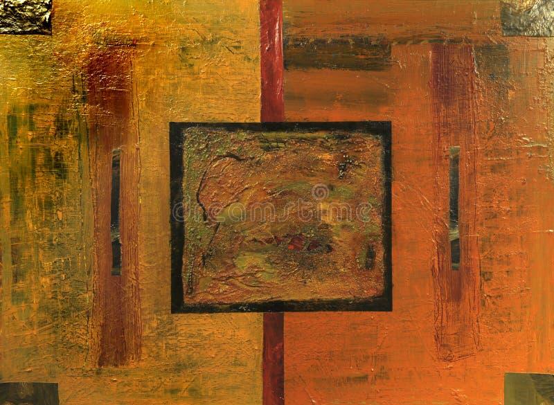 Pintura a óleo ilustração do vetor
