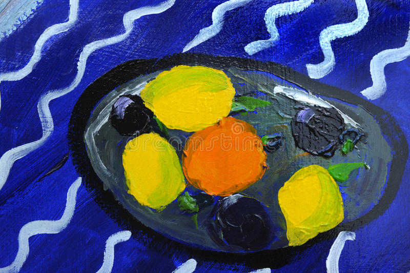 Pintura a óleo ilustração stock