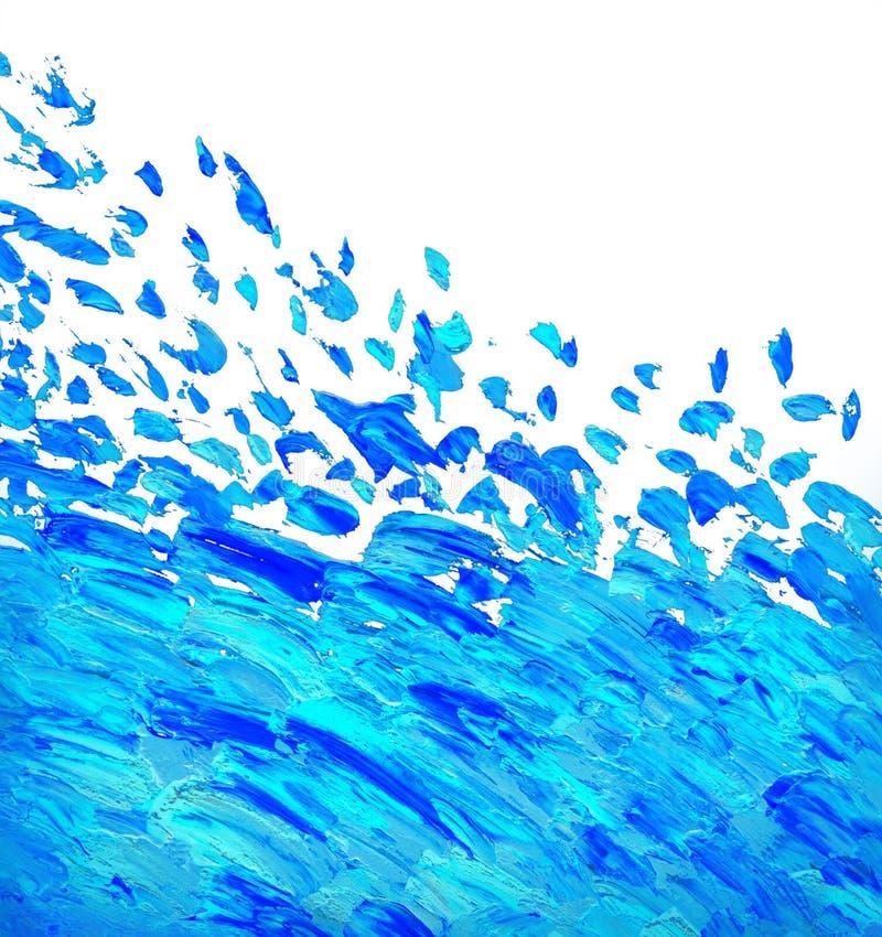 Pintura a óleo abstrata Fundo ilustração stock
