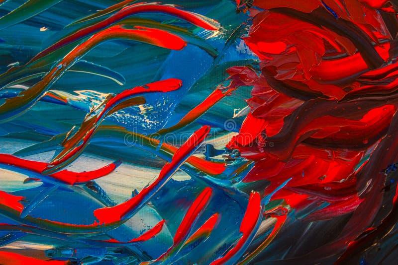 A pintura a óleo abstrata original Fundo fotografia de stock