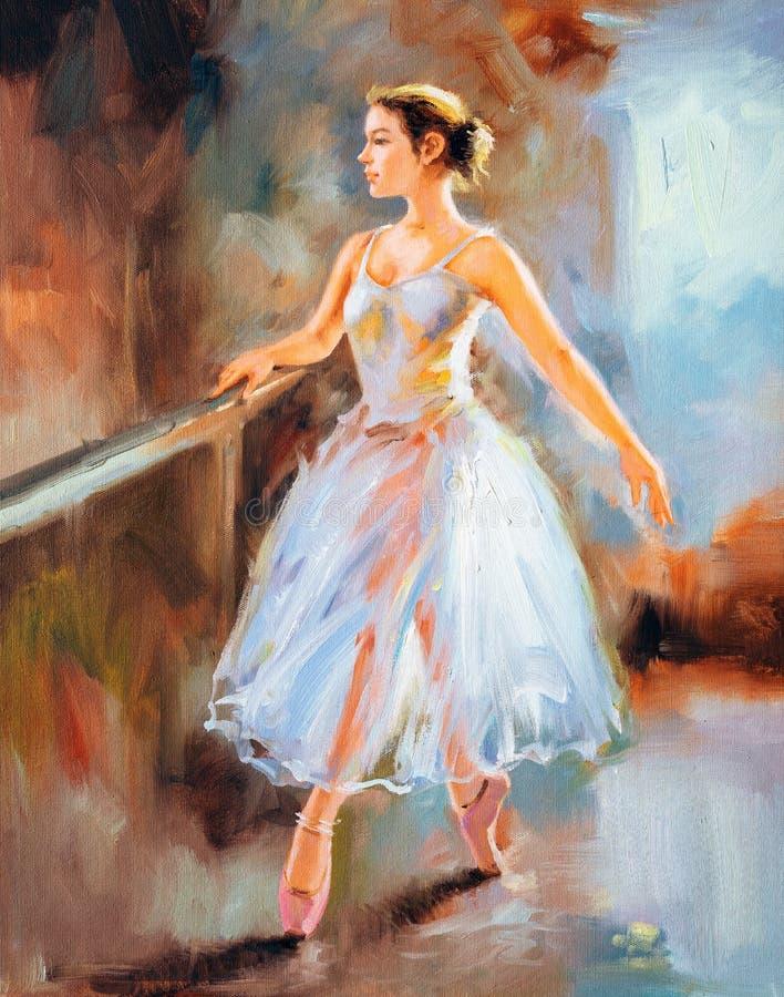 Pintura a óleo - bailado ilustração do vetor