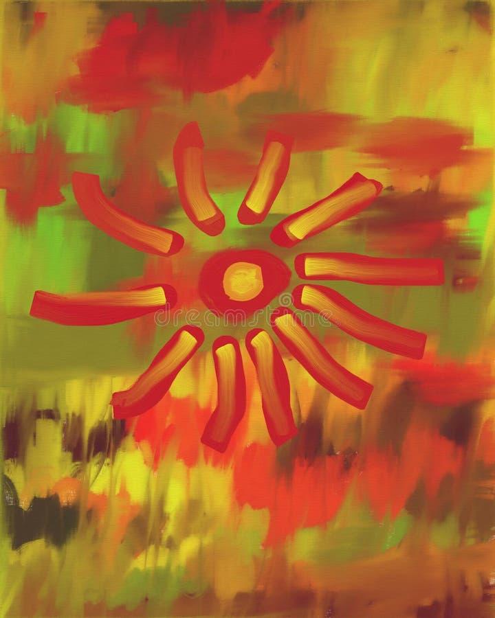 Download Pintura A óleo Da Flor Do Outono Ilustração Stock - Ilustração de bold, outono: 104686