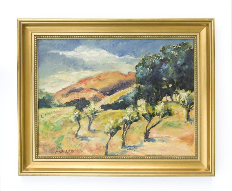 Pintura a óleo da paisagem fotos de stock royalty free