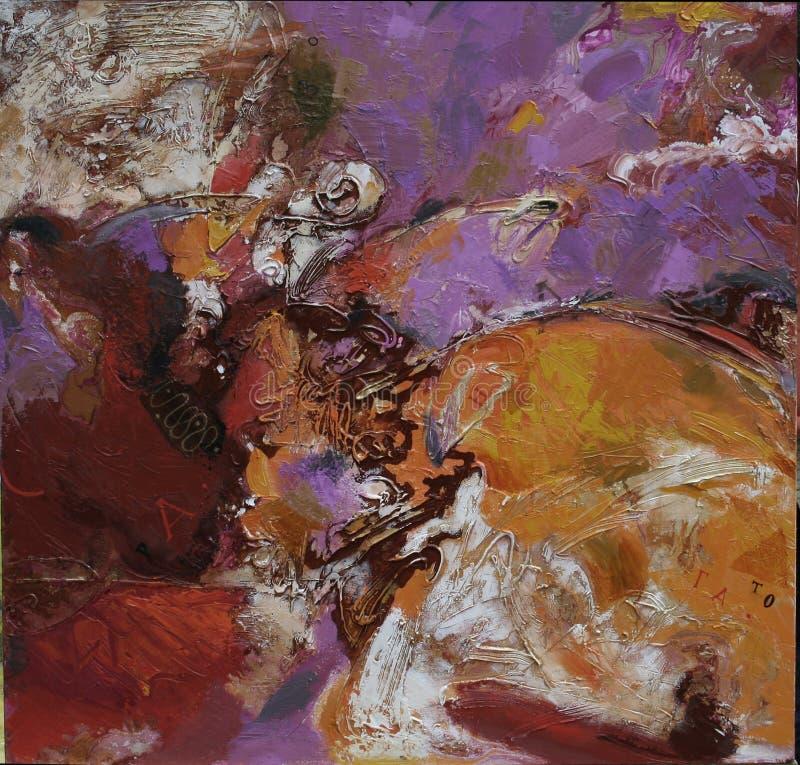 Pintura a óleo da textura, Roman Nogin autor de pintura imagem de stock royalty free