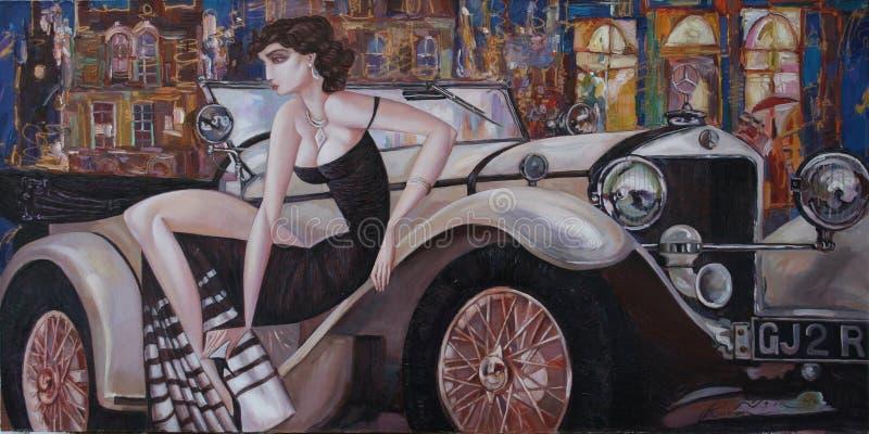Pintura a óleo da textura, Roman Nogin autor de pintura foto de stock