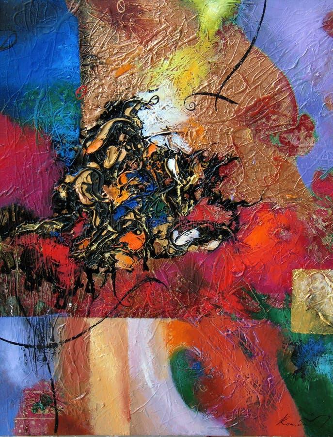 Pintura a óleo da textura, Roman Nogin autor de pintura fotografia de stock royalty free