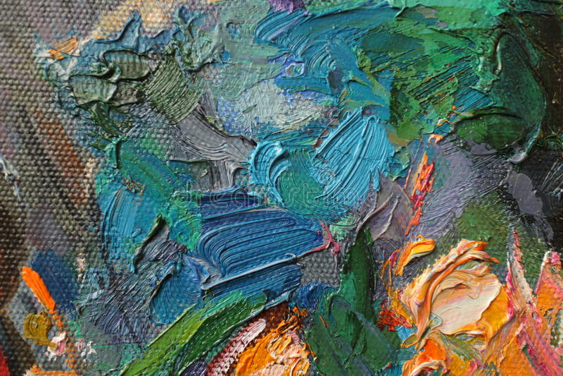 Pintura a óleo da textura, Roman Nogin autor de pintura foto de stock royalty free