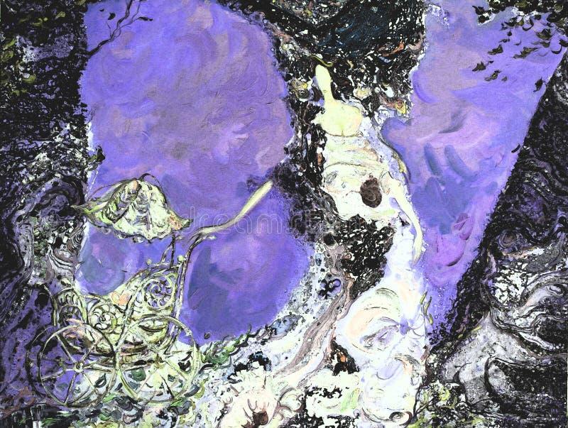 Pintura a óleo da textura seja o autor de Roman Nogin, conversa do ` s das mulheres do ` da série `, versão do ` s do autor da co fotografia de stock royalty free