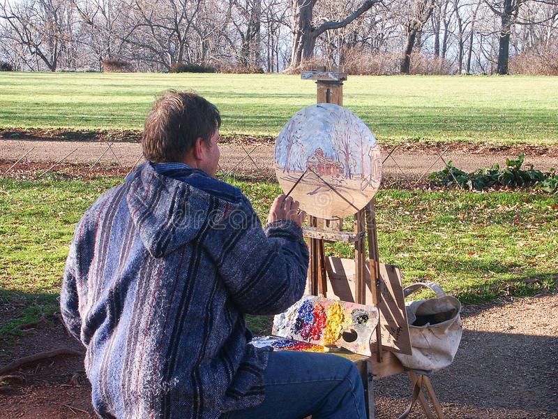 Pintura a óleo de €™s Monticello de Thomas Jeffersonâ imagens de stock royalty free
